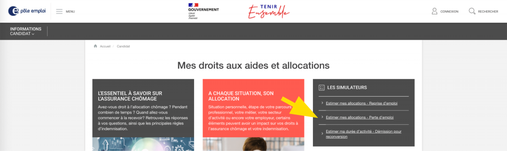 Se connecter au simulateurs des allocations