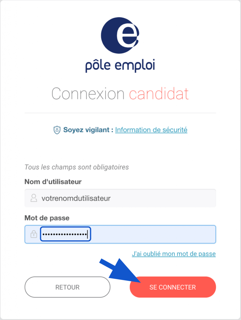 Validation de son mot de passe