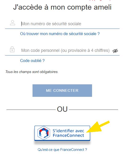 Identification pour accéder avec son compte
