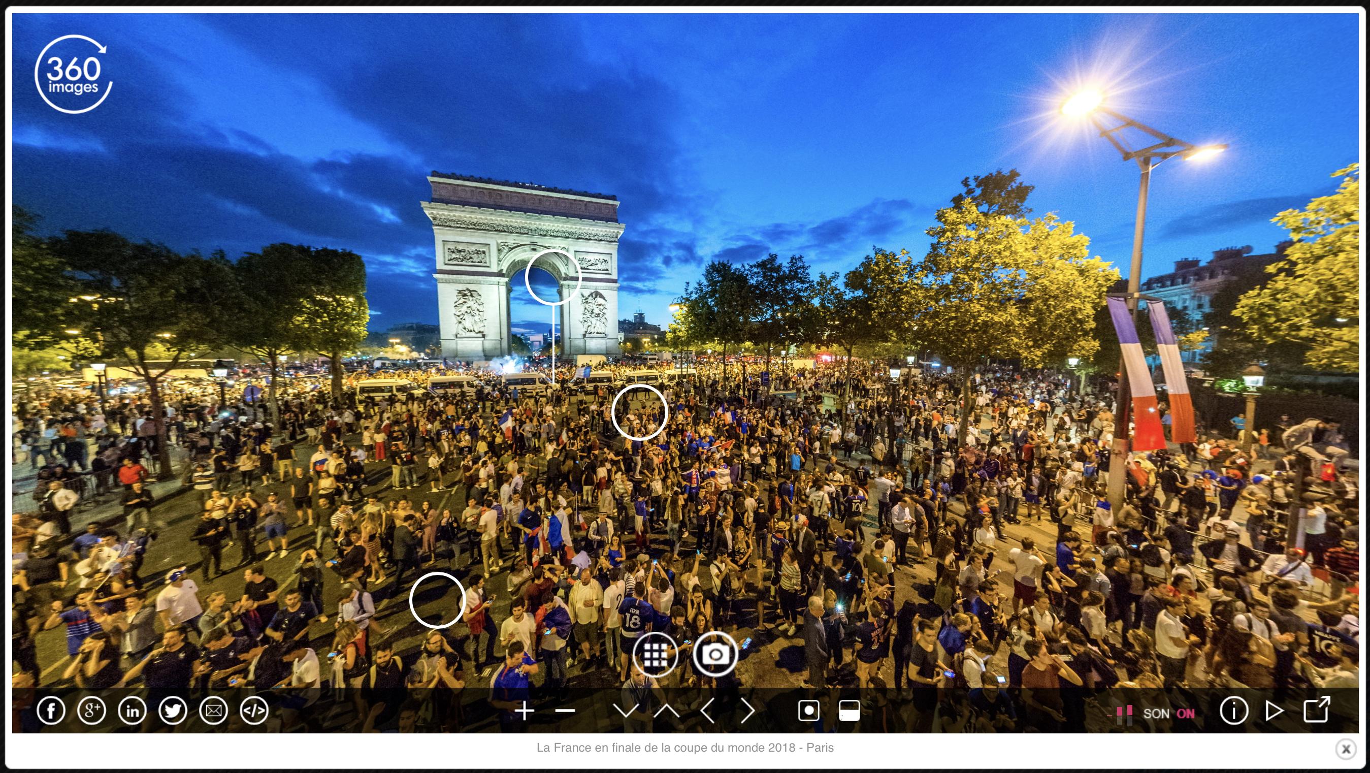 Visite virtuelle de Paris