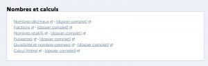 Bloc des catégories nombres et calculs du cycle 4 du site Eduscol