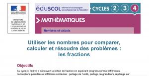 Extrait du pdf sur les fractions
