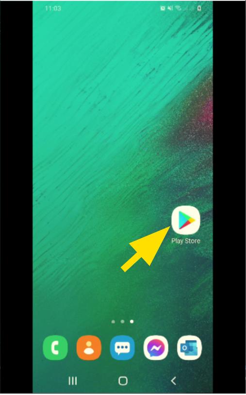 Accéder au Play Store depuis l'écran d'accueil