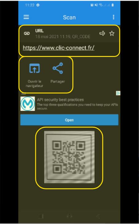 Informations liées au QR Code