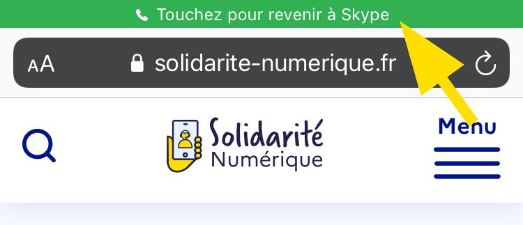 Revenir sur l'application Skype