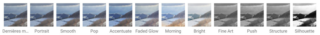 Styles de l'application Snapseed